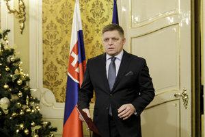 Premiér Fico počas vyhlásenia k 25. výročiu vzniku samostatnej Slovenskej republiky