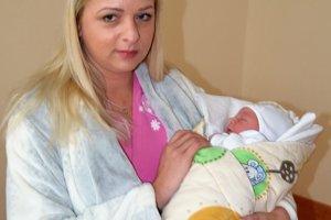 Lucasa, prvé bábätko vo zvolenskej nemocnici, porodila Zuzana Slováková.