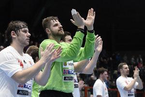 Slovenskí hádzanári sa tešili z víťazstva.
