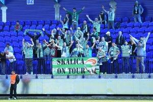 Na snímke fanúšikovia Skalice počas finálového zápasu 48. ročníka Slovenského pohára - Slovnaft cup-u medzi ŠK Slovan Bratislava - MFK Skalica v Národnom tréningovom centre v Poprade 1. mája 2017.