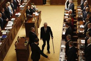Prezident Zeman v českom parlamente.