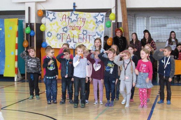 Počas súťaže deti vytvorili úžasnú atmosféru.