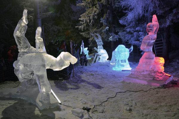 Ľadové sochy na Hrebienku.