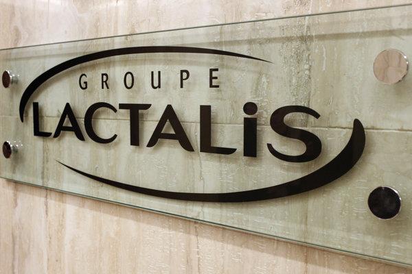 Logo francúzskeho výrobcu Lactalis.