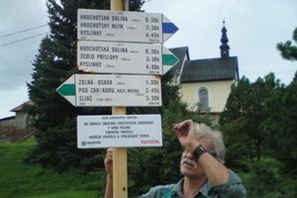 Turistické značky. Obnovovať by sa mali každé tri roky.
