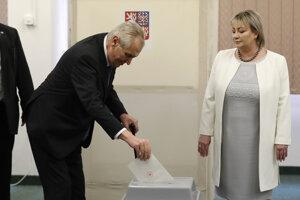 Český prezident Miloš Zeman s manželkou Ivanou.