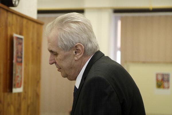Úradujúci český prezident a prezidentský kandidát Miloš Zeman.