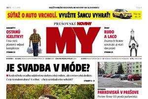 Titulná strana týždenníka MY Prešovské noviny č. 4/2018.