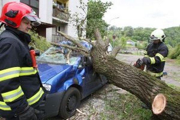 V regióne na viacerých miestach vyvracalo stromy, v Turovej spadol na auto.
