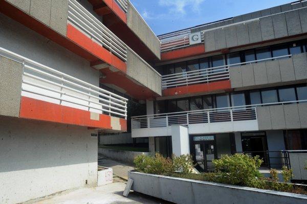 Pohľad na Átriové domy v Mlynskej doline v Bratislave.