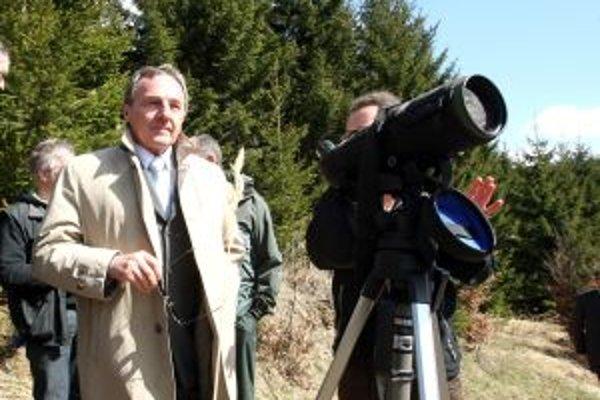 Minister životného prostredia priamo v teréne.