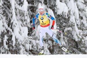 Kaisa Mäkäräinenová počas pretekov Svetového pohára.
