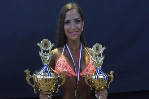 Tímea s trofejmi