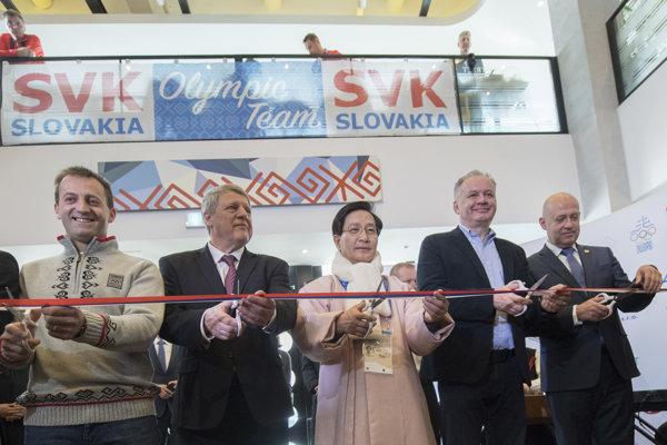 Otváranie Slovenského olympijského domu v Pjongčangu.