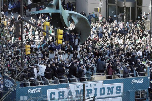 Oslavy hráčov Philadelphie Eagles.