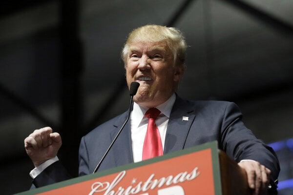 Donald Trump počas kampane v Grand Rapids.