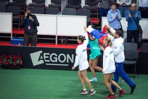 Slovenské tenistky potešili domácich divákov. Zdolali Rusko.