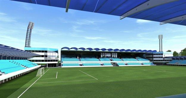Vizualizácia: Prebudovaný štadión má byť odovzdaný v júli 2018.