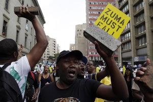 Protest proti bývalému juhoafrickému prezidentovi Zumovi.