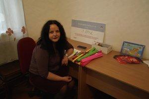 Denisa Felixová v edukačnom kabinete.