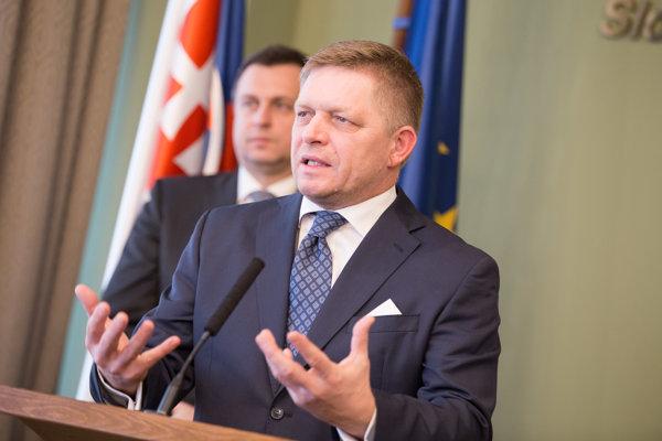 Predseda strany Smer-SD a predseda vlády SR Robert Fico.