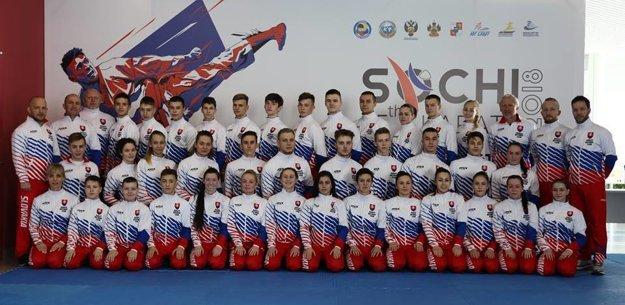 Slovenská výprava na Majstrovstvách Európy kadetov, juniorov aU21 vkarate.