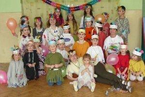 Momentka z karnevalu detí zo škôlky v Čabinách.