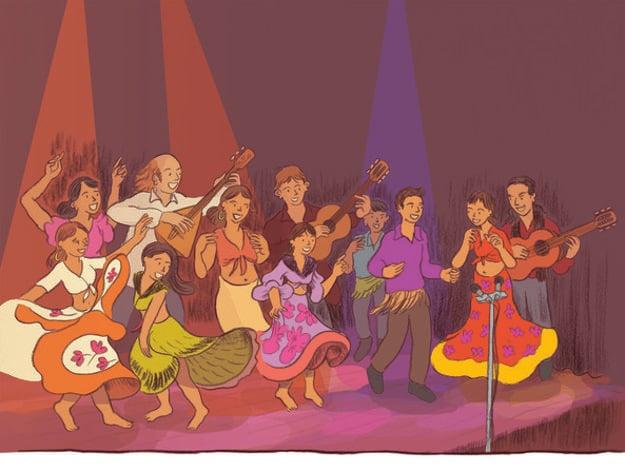 Jedna z kresieb komiksu o rómskom súbore Kesaj Čhave.