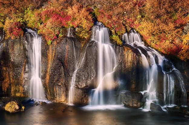 Island. Hraunfossar