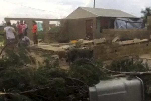 Škody spôsobené cyklónom Gita.
