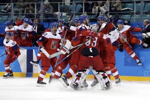 Česi oslavujú postup do semifinále olympijského turnaja. Prvýkrát od roku 2006.