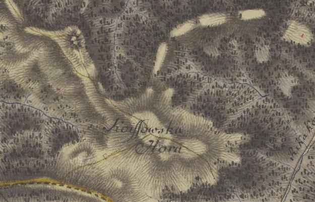 Detail mapy z 1. Vojenského mapovania, 1767.