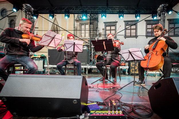 Konvergencie Quartet hrali v úvode koncertu skladbu od Mariána Vargu.