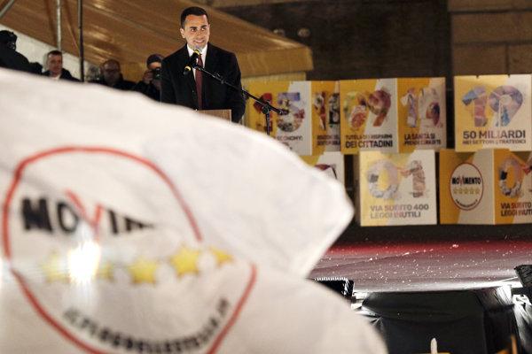 Luigi Di Maio z populistického Hnutia piatich hviezd by mohol byť novým talianskym premiérom.