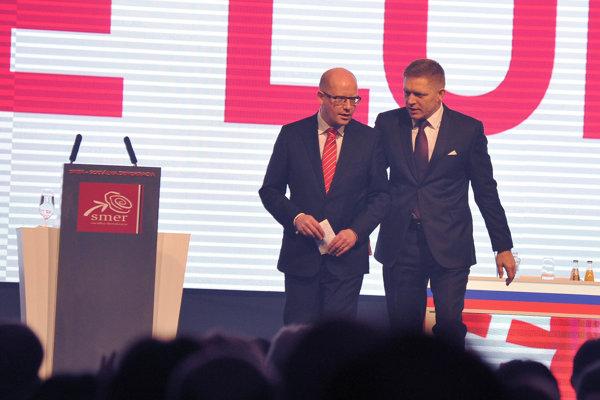 Bohuslav Sobotka a Robert Fico.