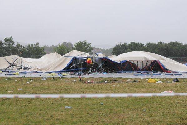 Na festivale Pohoda v Trenčíne sa 18. júla 2009 zrútila O2 Aréna.