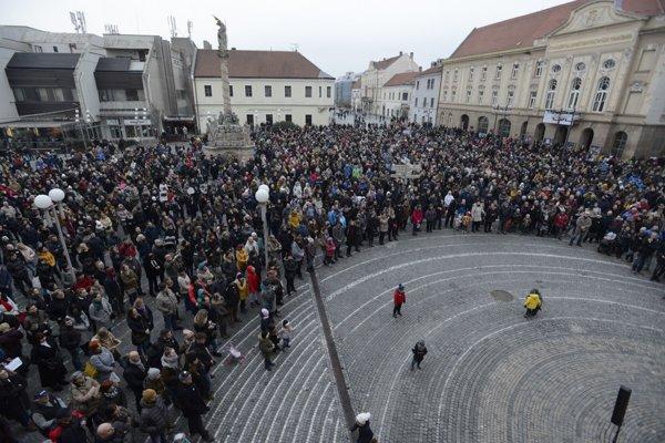 V Trnave sa zišlo asi 2500 ľudí.