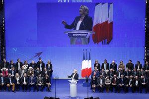 Marine Le Penová počas snemu Národného frontu.