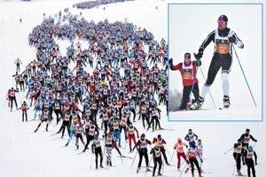 Na Engadin Skimarathone sa medzi 14-tisíc účastníkmi predstavili aj Nitrania. Vo výreze Michal Janovič.