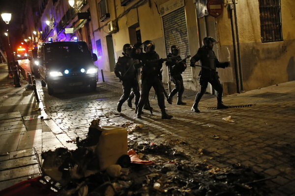 Protesty v Madride.
