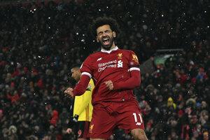 Mohamed Salah sa raduje po jednom zo svojich gólov.