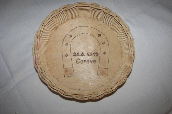 Košík z pedigu vyrobený na podujatie Cerovská podkova