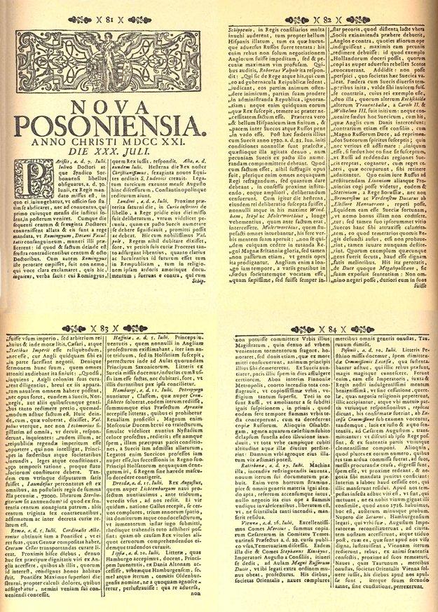 Latinské noviny vydávané v Prešporku.