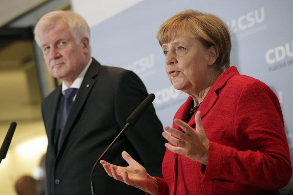 Bavorský premiér Horst Seehofer s kancelárkou Merkelovou.
