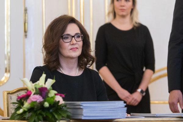 Novovymenovaná ministerka školstva SR Martina Lubyová.