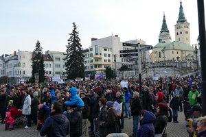 Na tretie žilinské zhromaždenie prišlo asi päť tisíc účastníkov.