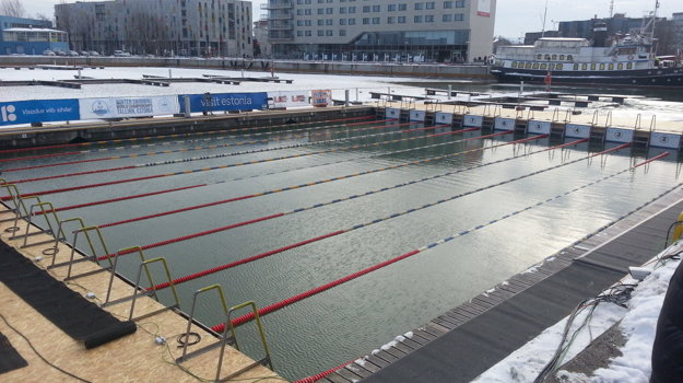 Bazén, v ktorom súťažili plavci v Talline.