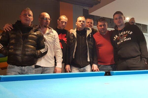 Zľava: Š. Mucha, M. Murčo, J. Vrba, V. Majerík, P. Šamaj, J. Brinza, J. Chnúrik.