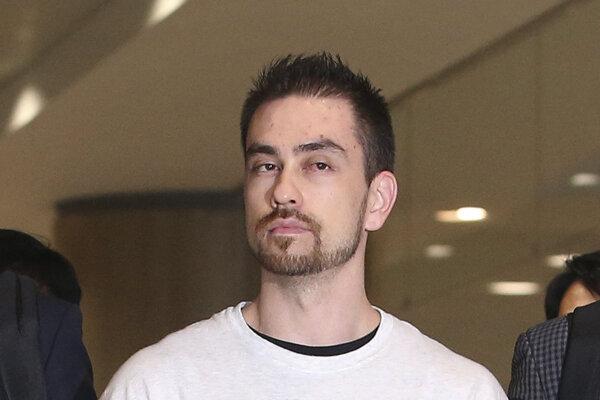 Archívna fotografia Arthura Pattersona odsúdeného za vraždu juhokórejského študenta.