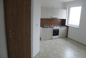 Pohľad do jedného z nájomných bytov.